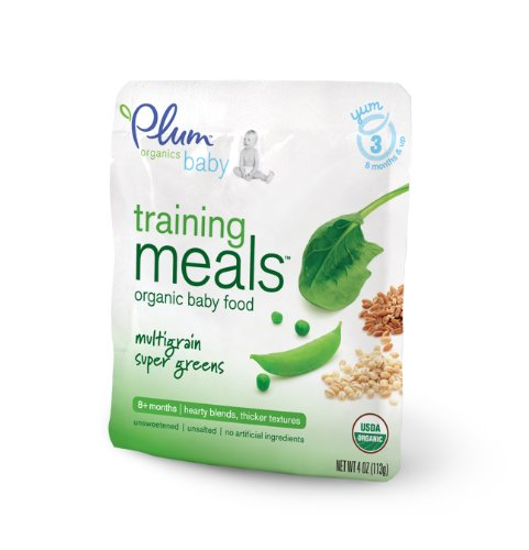 Plum Organics Training Meals, Multigrain Super Greens, 4-Ounce Pouches (Pack of 12)
