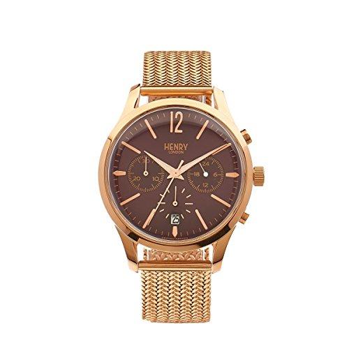 Henry London Unisex-Armbanduhr Hampstead Chronograph Quarz Edelstahl HL39 - CM-0088