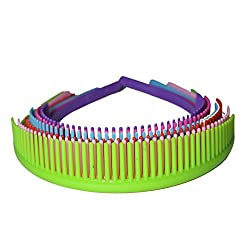 Anokhi Ada Multi-colour Comb Style Daily Use Plastic Hair Bands for Girls (Combo Set of 6 Hair Bands) (HAB-0050)