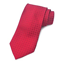 Ohyes Hand Made Full Silk Formal Men\'s Tie Red
