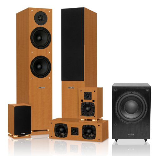 Fluance SX Series 5.1 Surround Sound Home Theater Speaker System with DB150 Powered Subwoofer