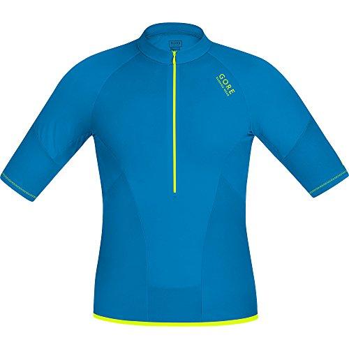 Gore - Maglietta da corsa Magnitude Compression, mezza cerniera, Blu (Splash Blue), XL