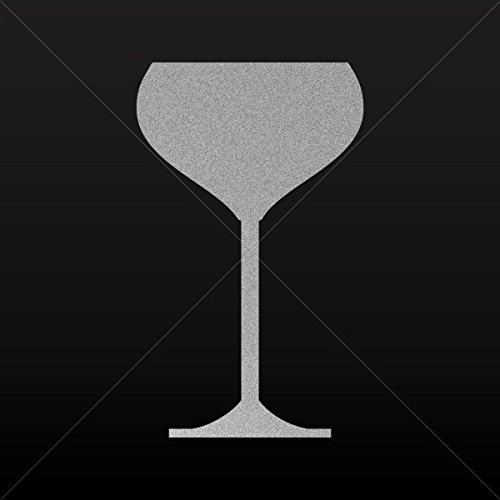Decal Stickers Champagne Saucer Glass Motorbike Vehicle Weatherproof G Silver-Matte (30 X 18.1 In)