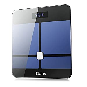 Weight Scale,ZJchao Bluetooth Body Fat Scale for Body Composition Analyser Measures 8 Fitness Indicators, 10 User Groups & Auto Recognition Technology