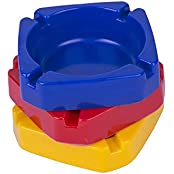 Ashtray Set Of 3 Different Colors *By Classic Star Products*
