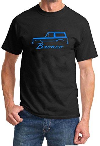 1966-77 Ford Bronco Classic Color Design Tshirt large blue