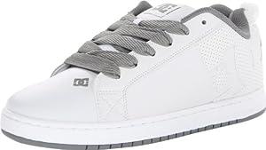 DC Men's Court Graffik Sneaker,White/Armor/White,9 M US