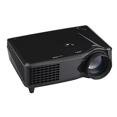 Lightinthebox 3000 Lumens 3D HD Smart Projector 1080P WXGA (1280x800) 3LED Projection Technology 2000:1 Contrast Ratio DVB-T, TV, HDMI Input, USB, VGA Port, 3-in-1 AV In