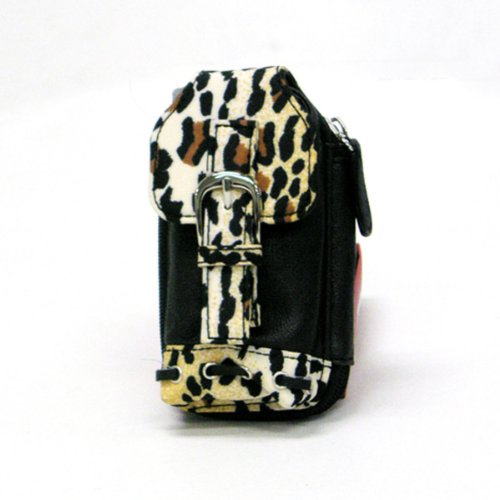Stylish Leopard Print Leather-Like Buckled Cellphone Holder Case