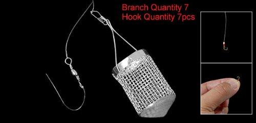 Como Lure Holder w 650CM Fishing Line 7PCS Luminous Hook Fish Tool