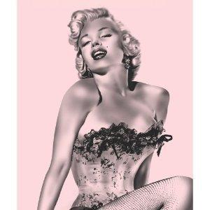 Marilyn Monroe Pink Fishnet Fleece Throw Blanket