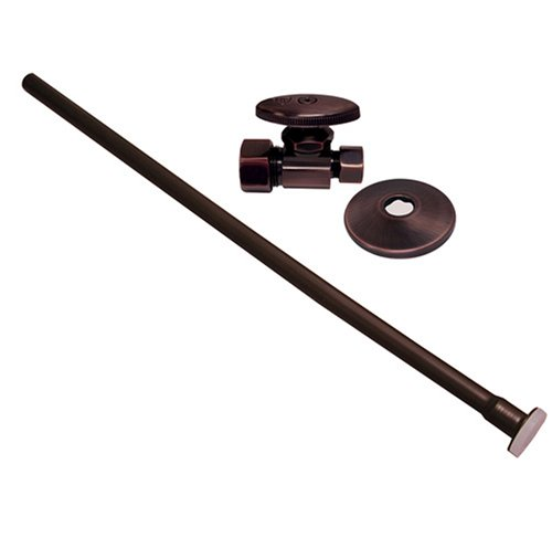 Plumbest S10-37WB Angle Closet Supply and Stop Kit, Old World Bronze