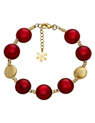 Valentina Genuine Murano Glass Red Bracelet of 21.5cm