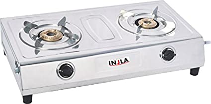 Injla-P-205-Stainless-Steel-Gas-Cooktop-(2-Burner)