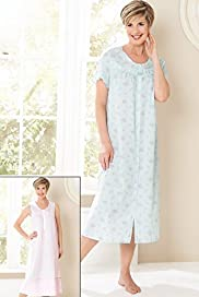 2 Pack - Classic Collection Round Neck Assorted Designs Nightdresses