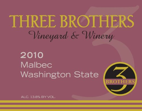 2010 Three Brothers Vineyard & Winery Rattlesnake Hills Malbec 750 Ml