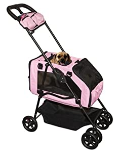 Pet Gear Travel System Pet Stroller for cats and dogs up to 15-pounds, Ice Pink
