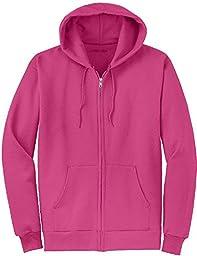 Joe\'s USA(tm) Full Zipper Hoodies - Hooded Sweatshirts Size XL, Sangria