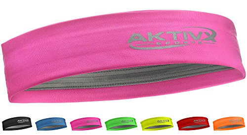 AKTIVX SPORTS Fitness Headband, Sports Headbands for Women, Fashion Headband, Running Headband, Women Headband, Men Headband, Yoga Exercise Headband - Pink