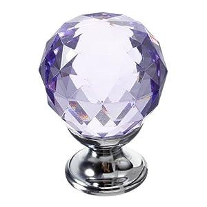 30mm Diamond Crystal Knob Cabinet Door Drawer Cupboard