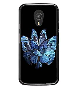 Bright Blue Flower 2D Hard Polycarbonate Designer Back Case Cover for Meizu M1 Note