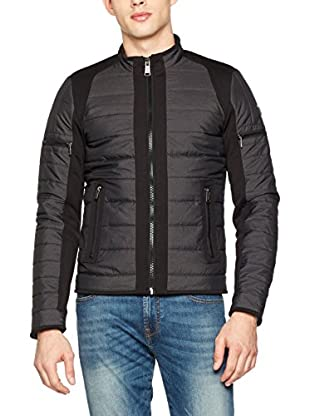 Guess Chaqueta Guateada Yd Tech Mixed (Negro)