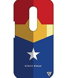 Vogueshell Wonder Woman Printed Symmetry PRO Series Hard Back Case for Motorola Moto G4