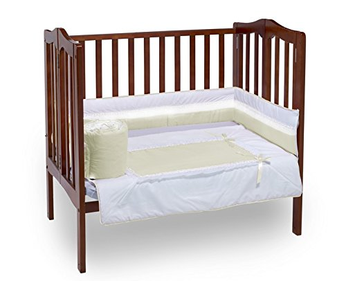 Baby Doll Royal Port-a-Crib Bedding Set, Ecru