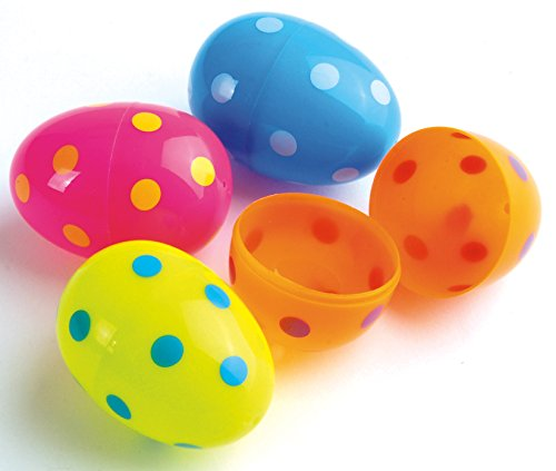 Dozen Assorted Color Polka Dot Design Plastic Easter Eggs