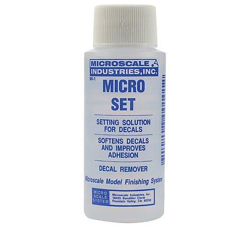 Microset, una delle colla per decal