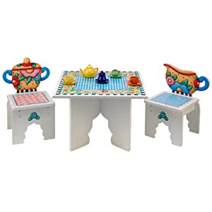 Anatex Mary Engelbreit Tea Time Table and2 Chairs