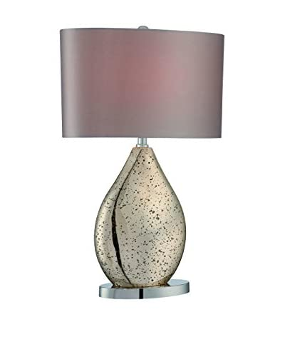 Lite Source Mandalay 1-Light Table Lamp, Gold, Beige