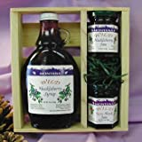 Huckleberry Gift Crate: 10oz Wild Huckleberry Syrup & 2- 3oz Jams