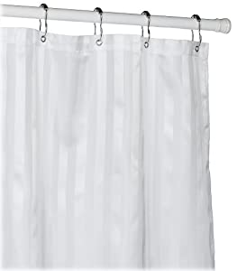 Amazon.com - Croscill Fabric Shower Curtain Liner, White - Large