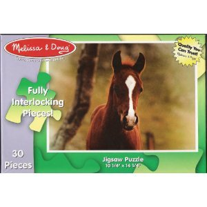 Brown Horse Cardboard Jigsaw Puzzle 30 pieces