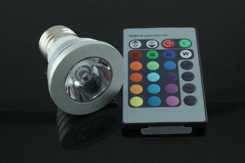 3W E27 16 Farbwechsel RGB LED Gl¨¹hlampe-Lampe 85-265V + IR-Fernbedienung
