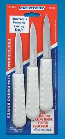 Sani-Safe 15383 Paring Knife with Polypropylene Handle (3 per Pack)