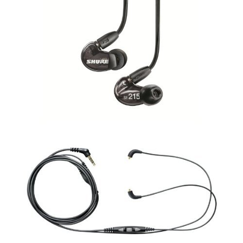 Shure Se215-K Earphones And Cbl-M-+K Music Phone Cable With Remote + Mic