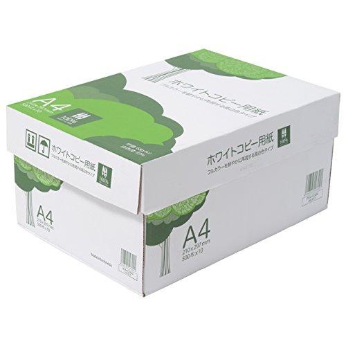 ホワイトコピー用紙 A4 500枚x10冊 箱  高白色