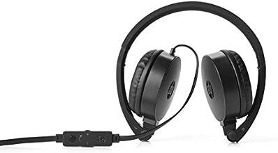 HP H2800 - Auriculares de diadema abierta (con micrófono, control remoto integrado, 3.5 mm), color negro