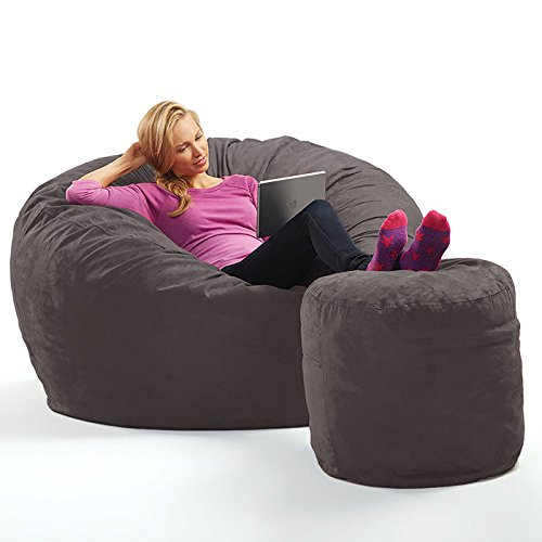 Micro Suede Theater Sack Bean Bag Chair (Micro Bag Toss compare prices)