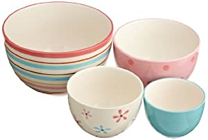 DII Hostess Cupcake Ceramic Bowls, Sweet Shop