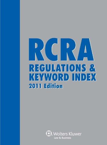 Rcra Regulations & Keyword Index 2011E W/Cd