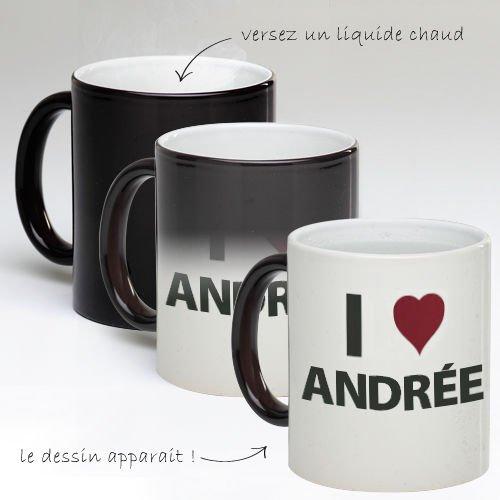 Tasse Mug Magique Personnalise I Love Andrée