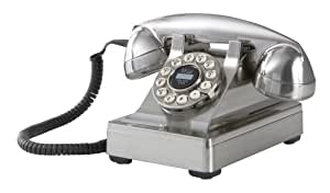 Crosley CR60 302 Corded Phone (Brushed Chrome)