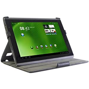 VIPERTEK 黑色超薄真皮10.1英寸Acer Iconia 平板电脑保护套
