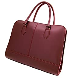 Su.B - Laptop Bag fits 15.6\'\' 14\'\' Inch Notebook MacBook for Professional Women Genuine Leather Handbag (Without Shoulder Strap) Briefcase Satchel Made in Italy - Bordeaux Red