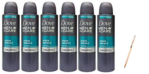 IRPot - 6 PZ. DOVE MEN CARE AQUA IMPACT DEODORANTE UOMO DEO SPRAY150 ML