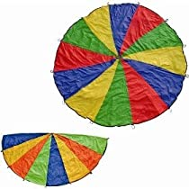 Big Sale Best Cheap Deals Cintz 20' Multicolored Play Parachute with 20 handles in a bag