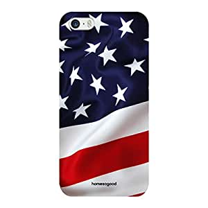 HomeSoGood Flowing American Flag Multicolor 3D Mobile Case For iPhone 5 / 5S (Back Cover)